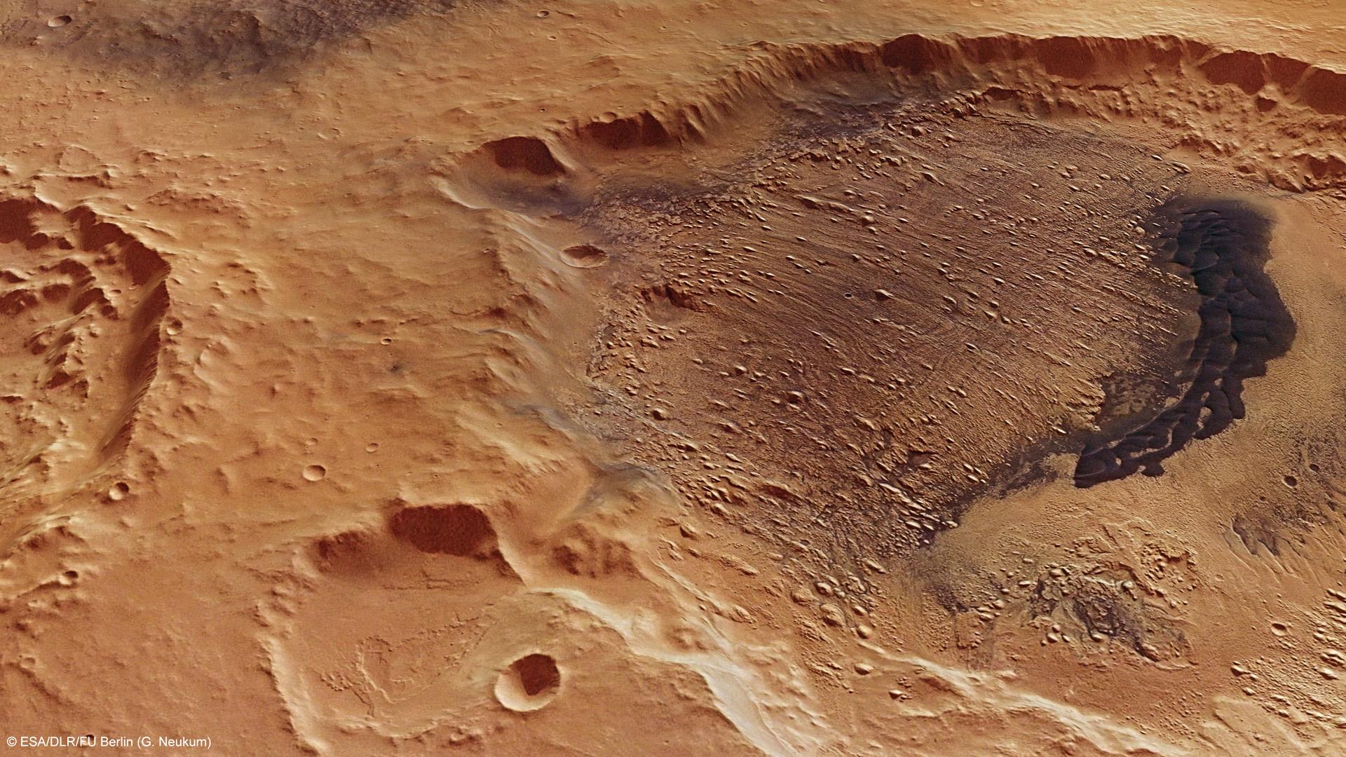 Su Marte c'era un oceano di 100mila km quadrati