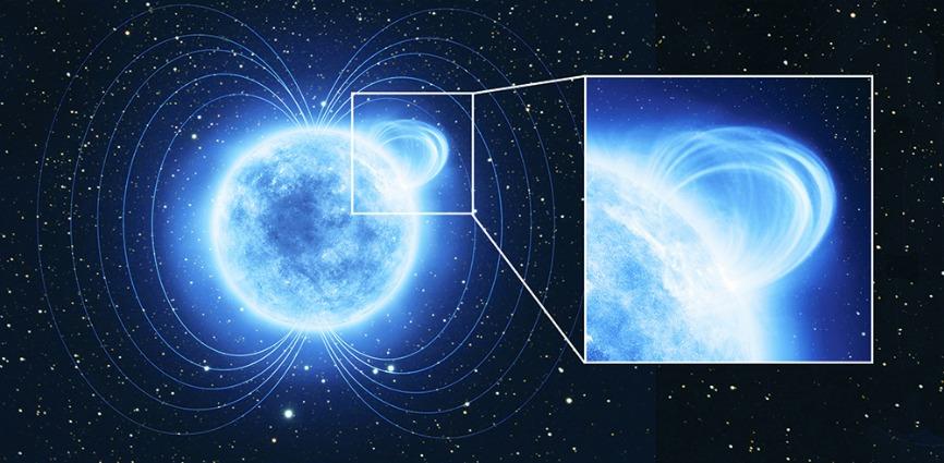 Individuato il campo magnetico più intenso dell'Universo