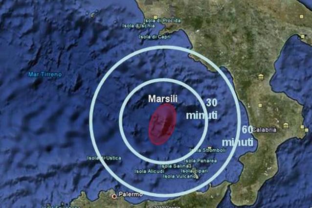 Il più grande vulcano in Europa è nel Tirreno e potrebbe essere attivo
