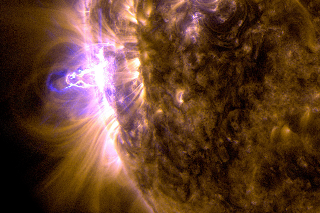 Ecco il brillamento solare più intenso dell'anno (VIDEO)