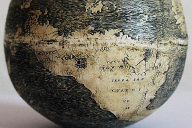 Il mappamondo più antico è disegnato su un uovo di struzzo