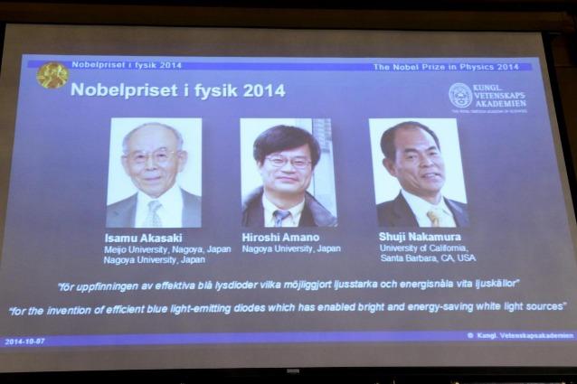 Il Nobel per la fisica agli inventori del LED blu