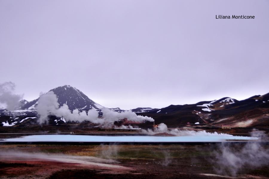 Laguna Blu del Nord in Islanda Myvatn relax diatonite azzurro