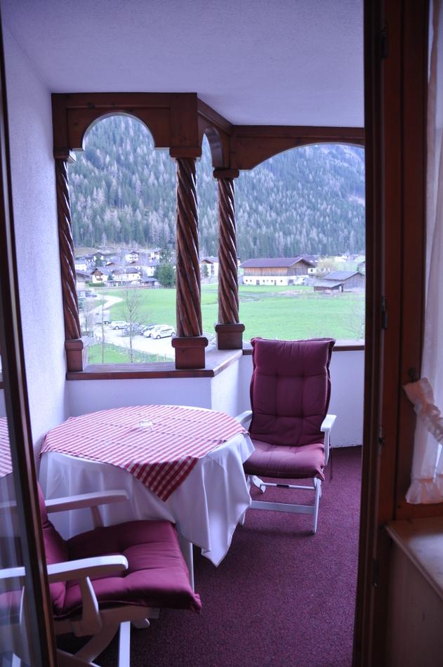 Hotel da sogno Jagdhof in Austria la terrazza della nostra suite