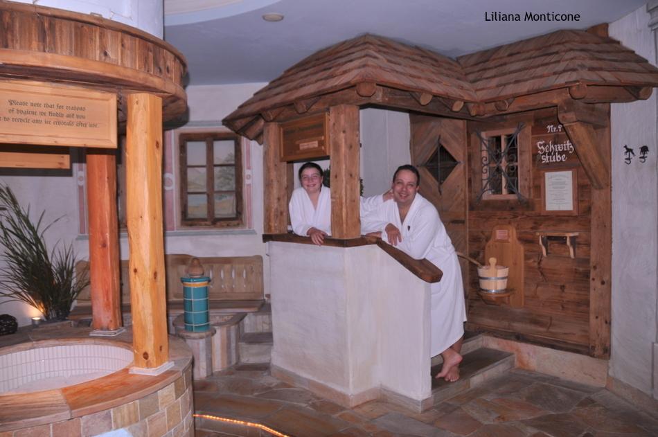 Hotel da sogno Jagdhof in Austria centro benessere sauna e fontana di ghiaccio
