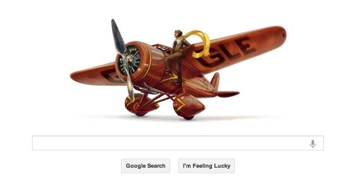 Google ritrova Amelia Earhart... nel suo doodle