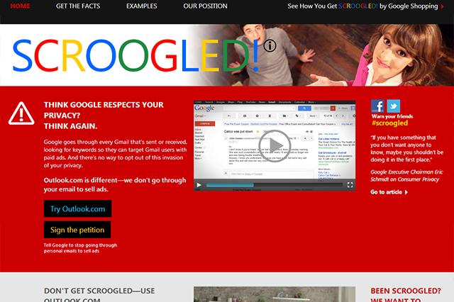 """Microsoft all'attacco di Gmail: """"Non fatevi fregare!"""" [VIDEO]"""
