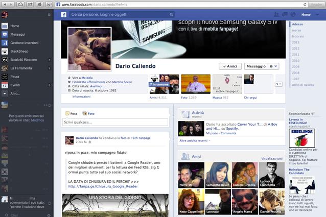 Nuovo Facebook News Feed 2013, la video prova