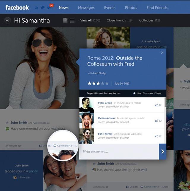 E se facebook fosse così? Un bellissimo concept di Fred Nerby