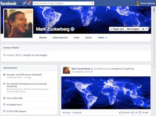 Cliccando sull url http www facebook com profile php id