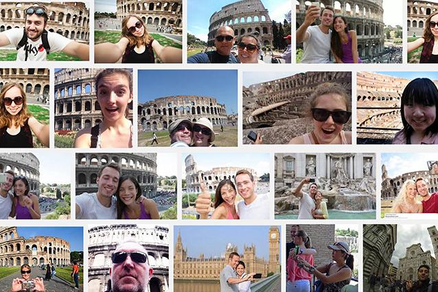 Selfie, lo sfondo più fotografato al mondo è il Colosseo. Londra la prima città per autoscatti
