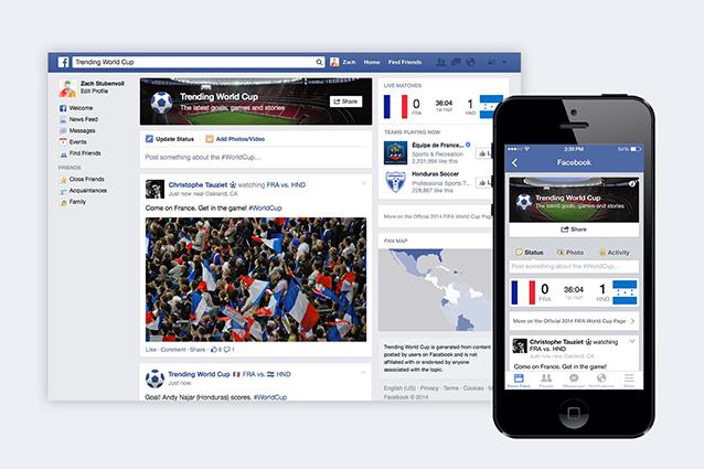 Facebook Trending World Cup: i Mondiali di calcio 2014 sul social network con un arbitro virtuale
