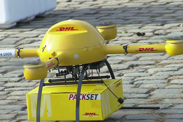 Altro che Amazon e Google, DHL ha già arrivato un servizio di consegna con i droni [VIDEO]