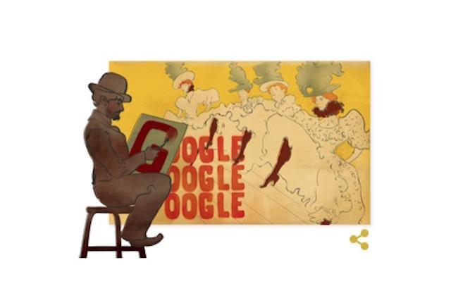 Henri de Toulouse-Lautrec protagonista del nuovo Doodle di Google