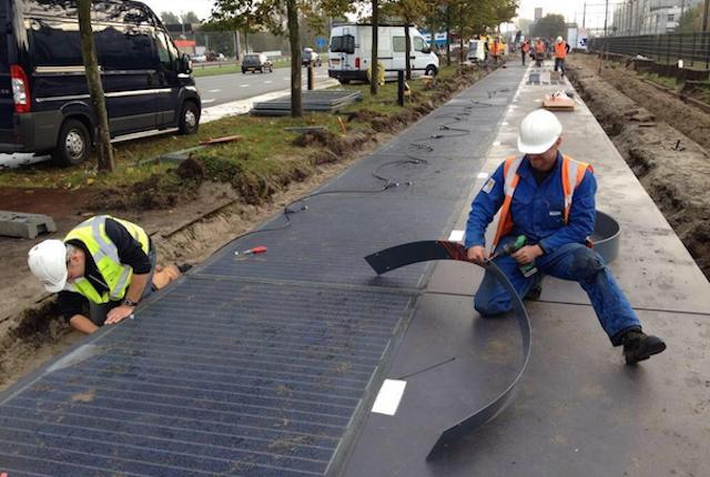 SolaRoad, in Olanda arriva la prima pista ciclabile con pannelli solari