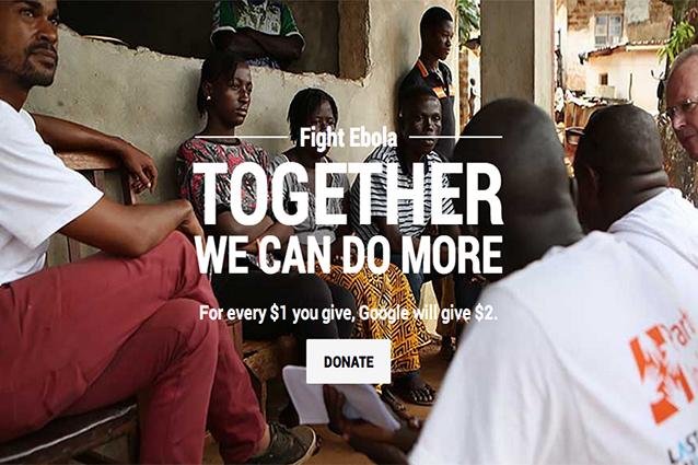 Google attiva raccolta fondi contro l'Ebola e dona 10 milioni di dollari
