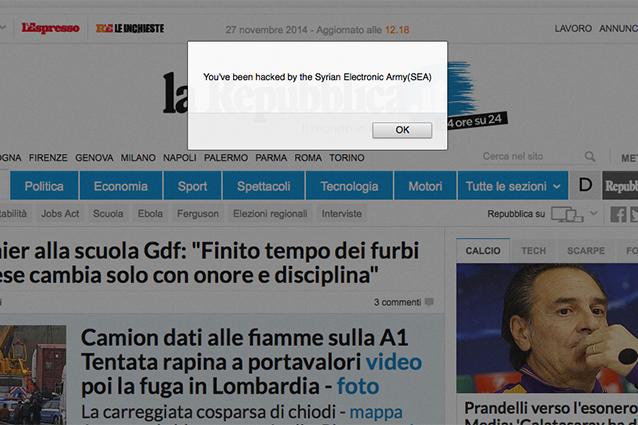 I giornali di tutto il mondo sotto attacco di hacker siriani