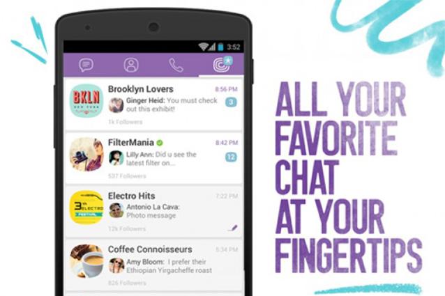 Viber si aggiorna ed introduce le Public Chats [VIDEO]