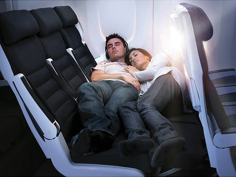 Sky Couch: letti in classe economica per la Air New Zealand