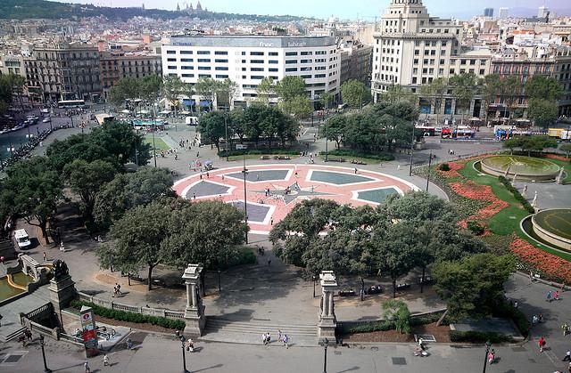 piazze plaza de catalunya