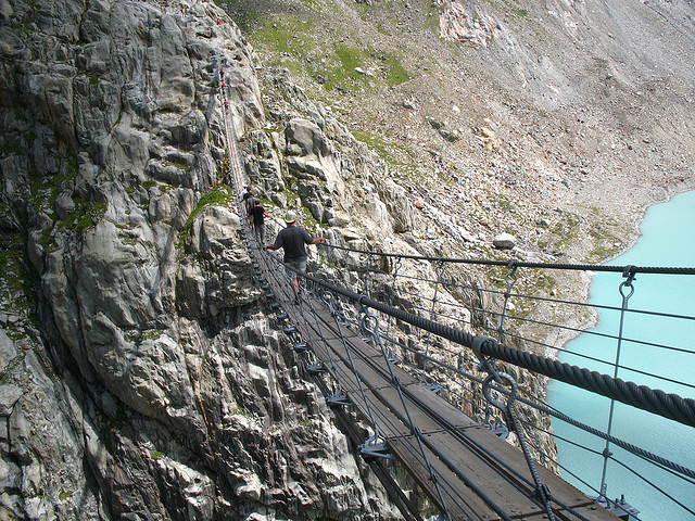 ponti sospesi lago tift svizzera