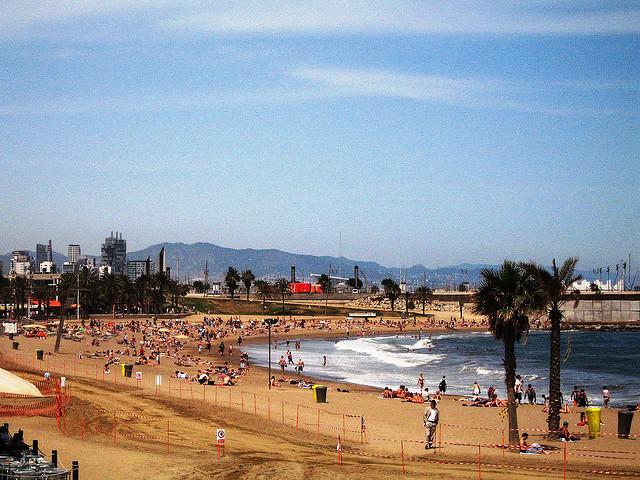 Barcellona, spiaggia