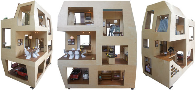 Spiral dollhouse la casa di barbie diventa moderna for Piani di house designer casa