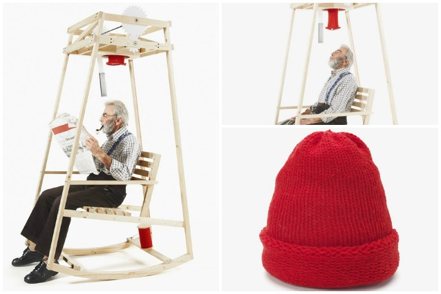 Rocking Knit, la sedia a dondolo che lavora a maglia al posto vostro
