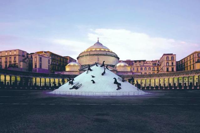 Napoli, piazza d'arte: le 10 installazioni artistiche più suggestive di Piazza Plebiscito