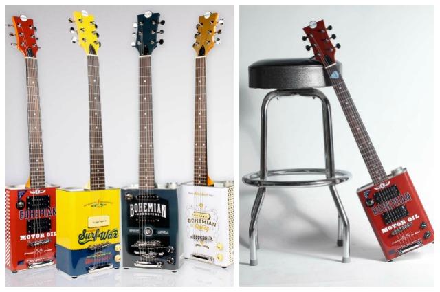 Riciclo creativo: come creare chitarre elettriche con le vecchie latte di olio