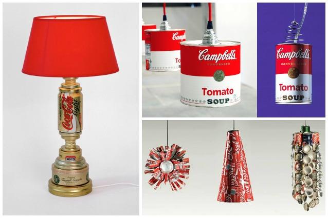 Come riciclare le vecchie lattine d'alluminio: 10 modi per creare originali lampade
