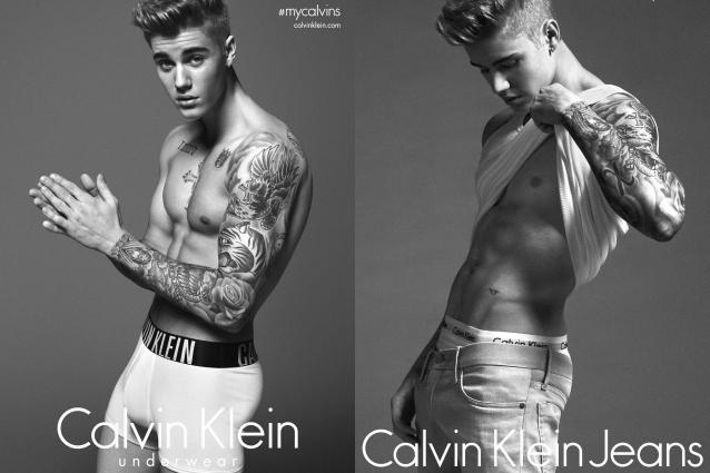 Justin Bieber mostra muscoli e tatuaggi posando in slip per Calvin Klein (FOTO)
