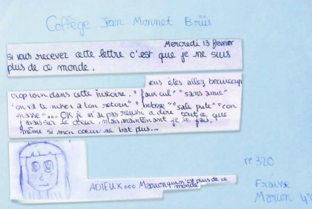 """""""Se sono morta è anche colpa tua"""": le strazianti parole della tredicenne suicida"""