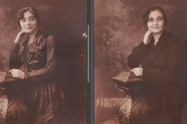 Riproduce vecchi ritratti di famiglia e scopre di essere identica ai suoi parenti (FOTO)