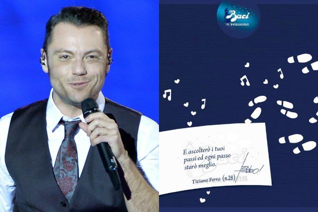 San Valentino: Tiziano Ferro firma le frasi d'amore dei Baci Perugina