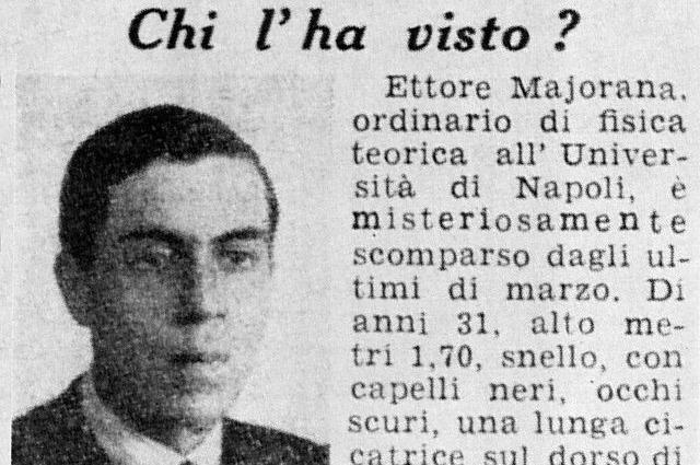 """""""Ettore Majorana era vivo tra il '55 e il '59"""""""