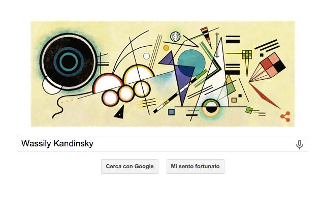 Wassily Kandinsky, un Google Doodle per il 148° anniversario della nascita del pittore astrattista