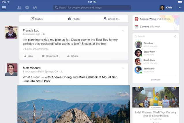 Facebook per iPad si aggiorna: ecco la nuova interfaccia grafica [FOTO]