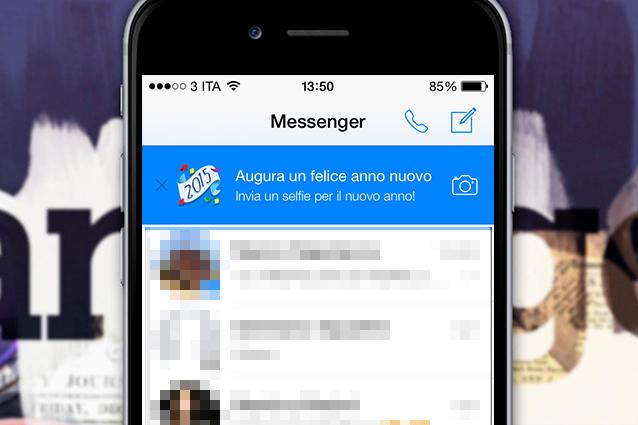 Facebook Messenger, augura un felice anno nuovo con un selfie [VIDEO GUIDA]