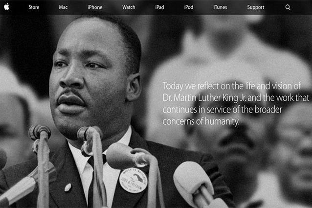Apple ricorda Martin Luther King con una speciale homepage [FOTO]