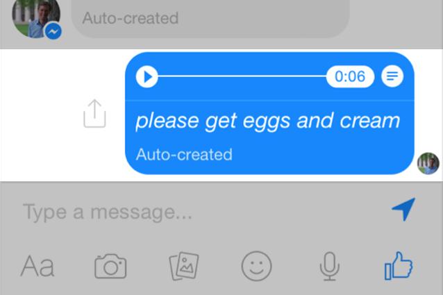 Facebook Messenger testa la trascrizione dei messaggi vocali
