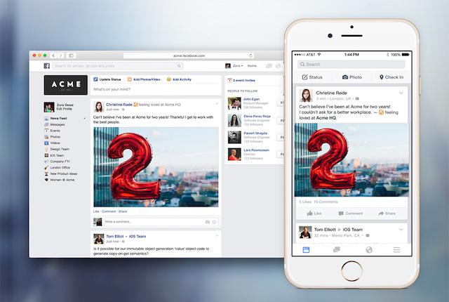 Facebook At Work, la piattaforma aziendale per organizzare il lavoro