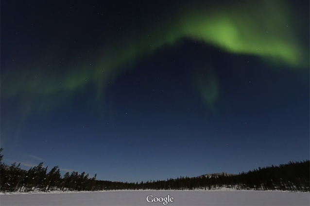 Google Maps, l'Aurora Boreale vista da Street View [FOTO]