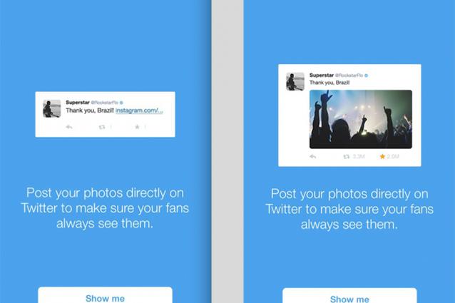 Twitter invita gli utenti più popolari a non condividere le foto tramite Instagram
